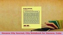 PDF  Havana City Journal City Notebook for Havana Cuba Read Full Ebook