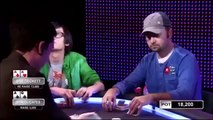 Daniel Cates getting in trouble with Ace Queen against Sam Trickett