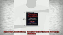 READ book  Managing Acquisitions  Creating Value Through Corporate Renewal  FREE BOOOK ONLINE