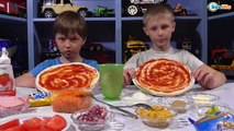 Видео для детей. Пицца Челендж от Игорька и его друга Богдана. Вызов Принят. Pizza challenge