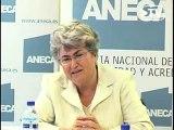 Rueda de prensa de Gemma Rauret. Directora ANECA