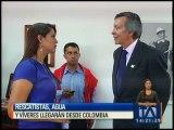 Rescatistas, agua y vívieres llegarán desde Colombia