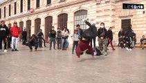 Marseille : démonstration de breakdance à la gare Saint-Charles