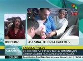 Honduras: cientos de personas acuden a despedir a Berta Cáceres