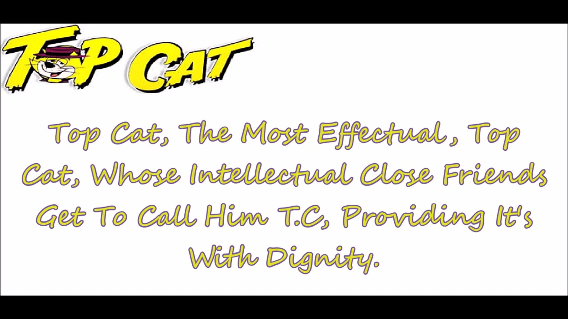 Top Cat Theme Song Lyrics Video Dailymotion