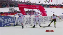 Petter Northug AMAZING finish & GOLD for NORWAY mens relay VM Falun 2015