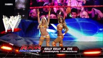WWE DIVA WRESTLING - THE BELLA TWINS VS. KELLY KELLY AND EVE TORRES (2012) - Entertainment Sports Diva Women Women's Wrestling