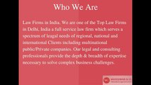 Law Firms in India, Corporate Law Firms in Delhi, Criminal Law firms in Delhi