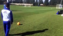 Eden Hazard Amazing Curve Shot Goal in Chelsea Training