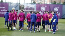 FC Barcelona training session: Before the trip to face Eibar