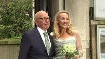 Newlyweds Rupert Murdoch and Jerry Hall host celebration