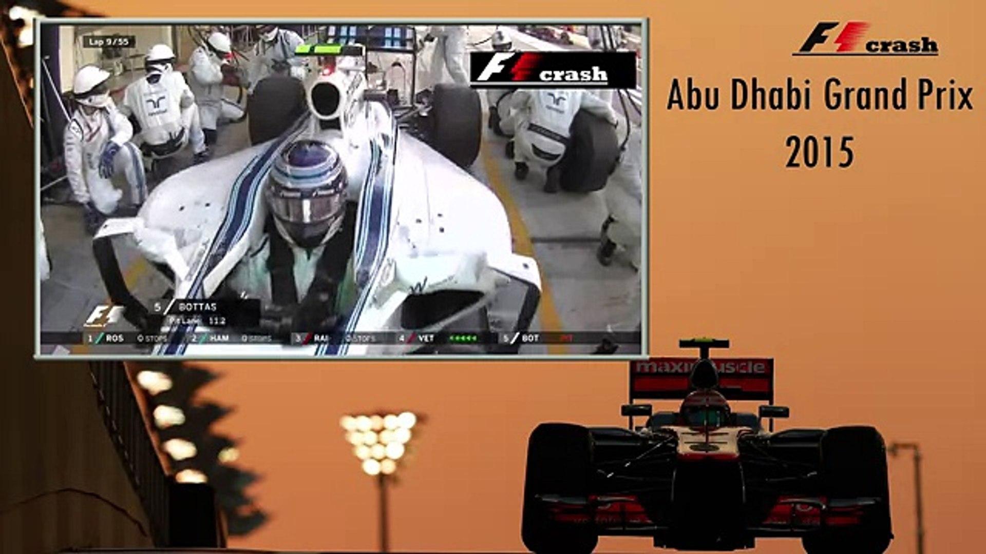 Формула 1 2015, Абу Даби, авария, Дженсон Баттон, Валттери Боттас