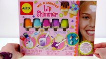 LIPGLOSS MAKER KIT --- Mix & Makeup POPSICKLE Lip Shimmer Keychains: 3 Flavors by Alex Toys