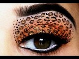 Leopard Eyes_ HD Makeup Tutorial I Leopard Eyeshadow & Red Lips - Leopard Print Makeup Tutorial