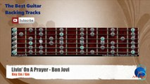 Livin' On A Prayer - Bon Jovi Guitar Backing Track with scale chart
