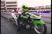 Kawasaki Turbo Drag Bike 14 Mile Wheelstand In 6.87 Seconds