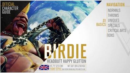 SFV - Guide Officiel de Birdie de Street Fighter V