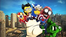 Minions Spiderman Cartoons Finger Family Children Nursery Rhymes   Minions Hulk Finger Fam