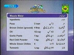 Masala Morning Masala Tv by Shireen Anwar 18th Sep 2013 Part