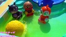 アンパンマン おもちゃ アニメ プール で びっくらたまご おふろ 入浴剤 おもちゃアニメ animekids アニメきっず animation Anpanman Toy Bath additive