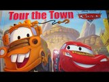 Pixar Cars Tour-The- Town Re-enactment with Lightning McQueen, Mater, Doc Hudson, Rusty and Dusty