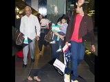 Aishwarya Rai with her Sister in law Shrima Rai & Brother Aditya Rai