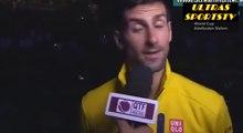 Novak Djokovic vs Rafael Nadal (6 1,6 2) (ATP Doha 2016 ) Djokovic Post Match Interview