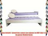 Cama infantil / juvenil dos camas con cajones en MDF (dm) 4 cm de grosor Modelo Rocio
