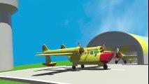 Dessin animé éducatif.Jeux d'assemblage. Français facile pour enfants. Aéroport en 3D - Numéro 6  Dessins Animés En Français