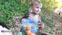Worlds Biggest Good Dinosaur Surprise Egg! T-Rex Spot + Arlo Pixar Butch HobbyKidsTV