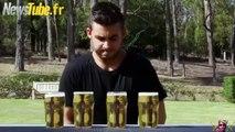 Le gars boit 4 pintes de bière en un temps record..