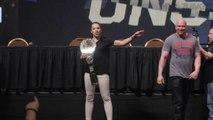 UFC Unstoppable press conference Joanna Jedrzejczyk  and Claudia Gadelha highlight