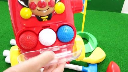 アンパンマンゴルフでびっくらたまご Anpanman Golf&Anpanman bath bubble