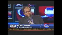 Michael Meyers and Jason Riley talk about anti-SYG PSA on Hannity Aug 20 2013