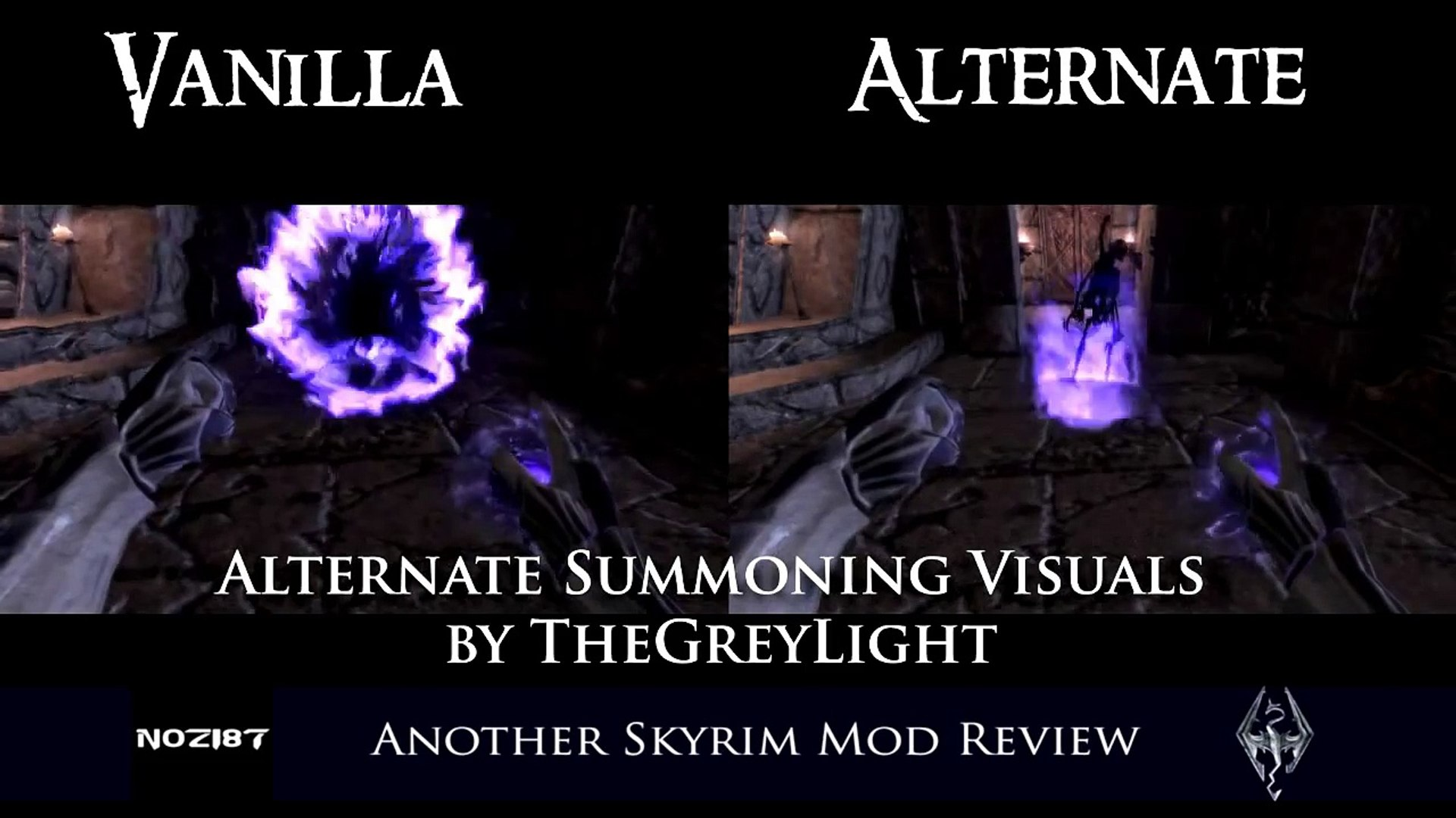 Another Skyrim Mod Review Alternate Summoning Visuals by TheGreyLight