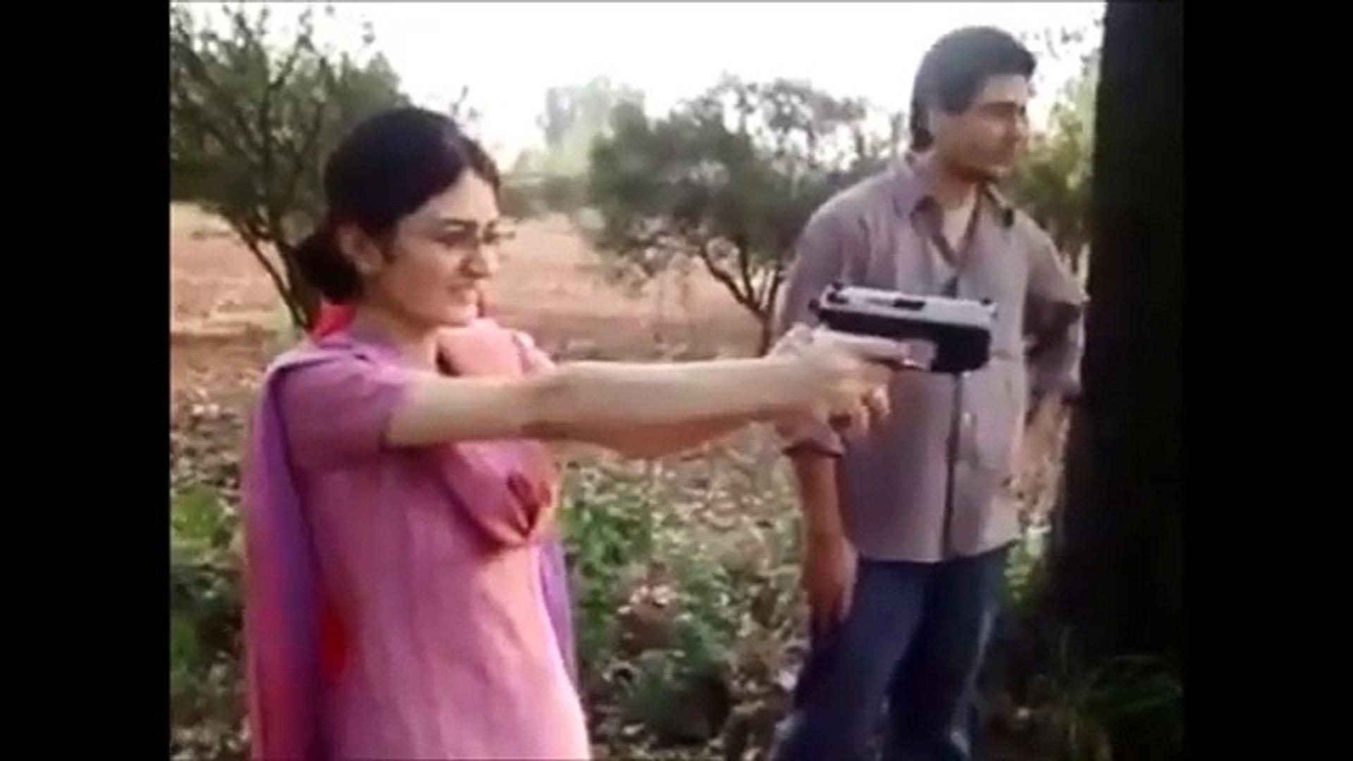 Pakistani Funny Girl Shooting Gun beautiful Pakistani girl amazing videos Pakistani Beautiful Girl S