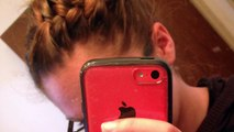 French Braided Side Bun Tutorial