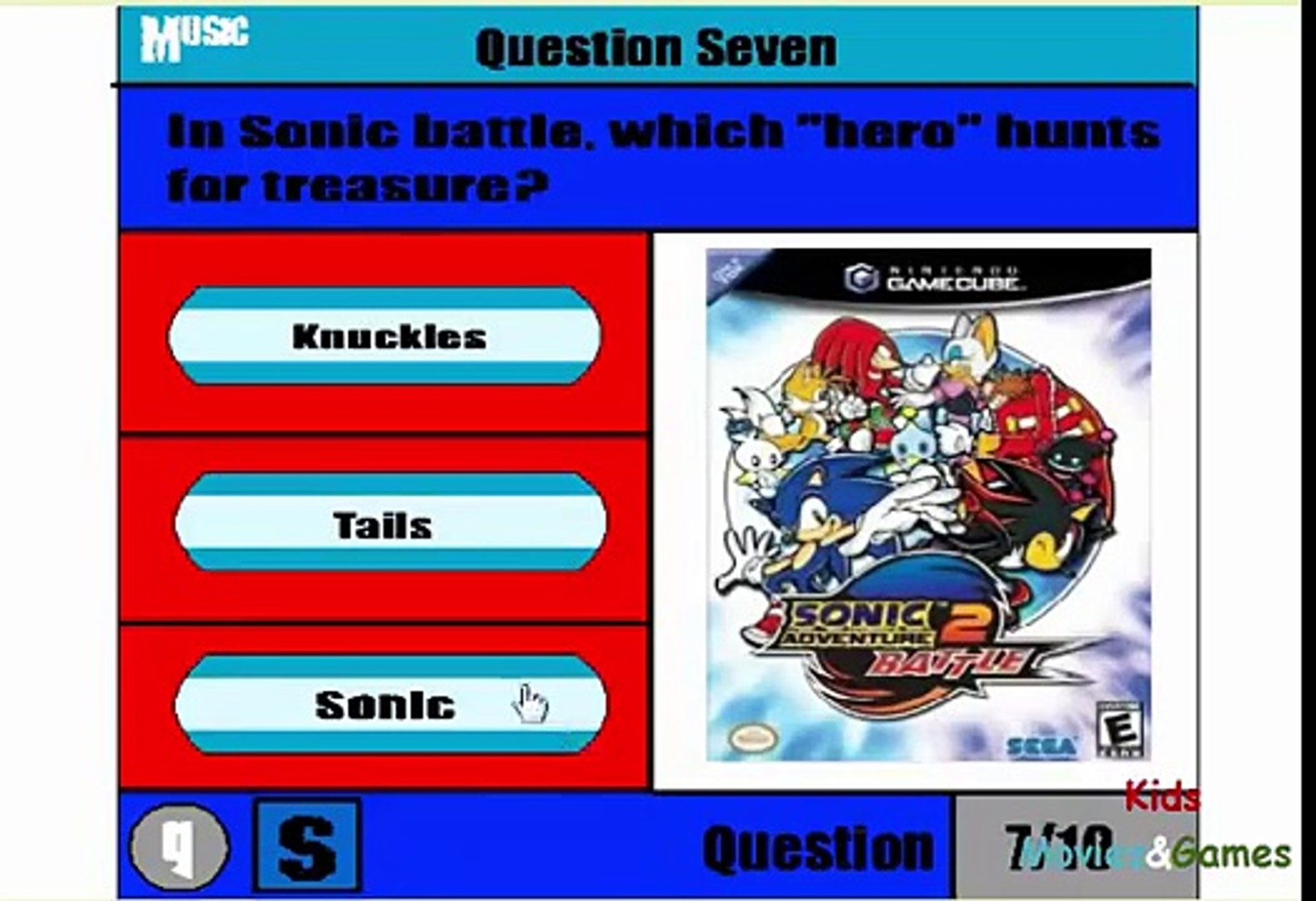 Sonic Quiz Game Fun Games Movies Education For Kids