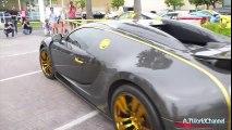 CRAZY Mansory Bugatti Veyron Vincero Acceleration & Sound! Crazy Crowd Shuts Down the Street!