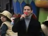 Jeff Timmons at the Macys Thanksgiving Day parade