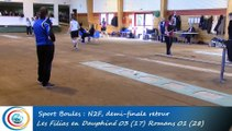 Tir rapide double, premier tour, Club N2 Féminin, demi-finale, Les Filias en D. vs Romans, Boules, saison 2015-2016
