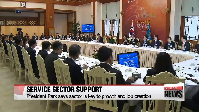 President Park says growth in service sector a must for job creation