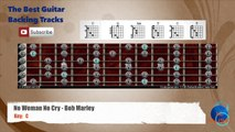 No Woman No Cry - Bob Marley Guitar Backing Track with scale and chords