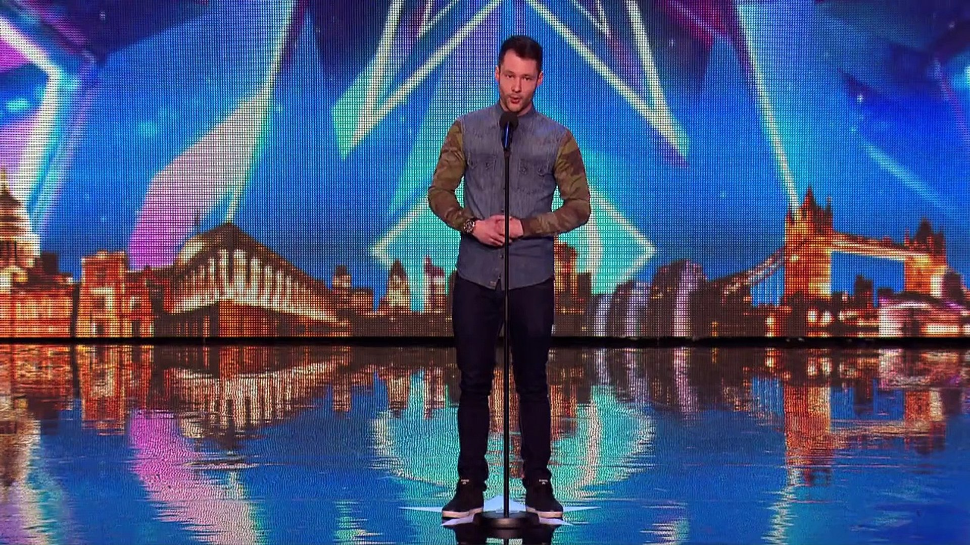 Golden Boy Calum Scott Hits The Right Note Audition Week 1 Britain S Got Talent 2015 Video Dailymotion