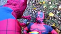 Spiderman vs STAR WARS Kylo Ren vs Deadpool in Real Life! Superhero Fights and Fun Movie