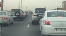 Hallucinant : un tigre se balade au milieu des voiture sur l'autoroute au Qatar