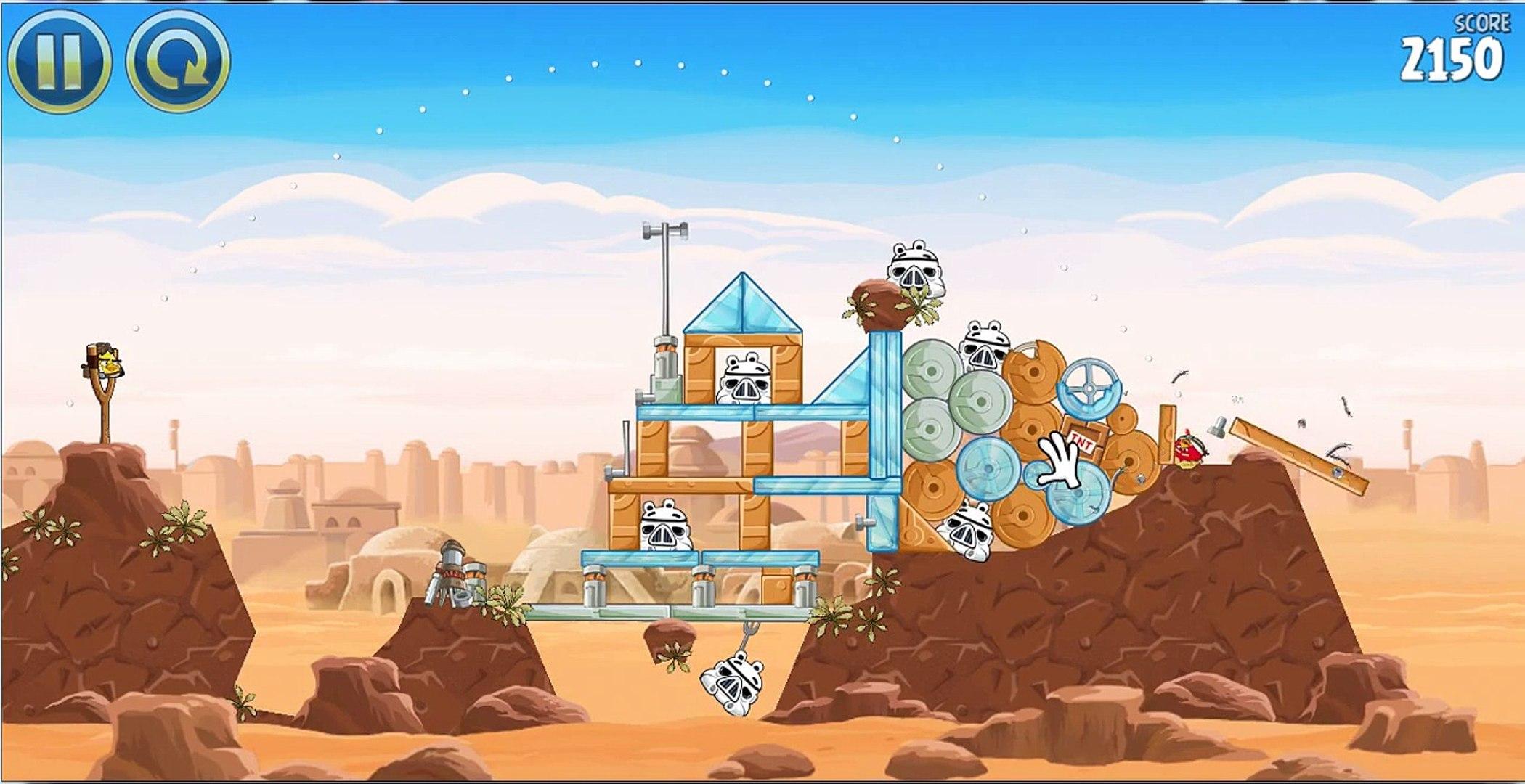 Злые птички звездные войны!!игровое видео