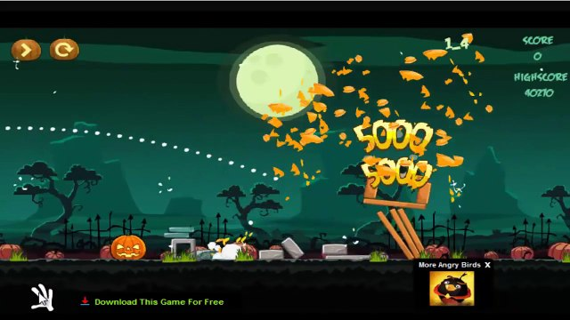 Angry Birds Halloween Tournament Games - Angry Birds Cartoons for Children - Angry Birds Gameplay