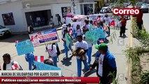 Políticos encabezaron marcha de solidaridad a favor de Gladys Tejeda