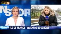 Grève dans les transports: plus de 350 kilomètres de bouchons en Île-de-France
